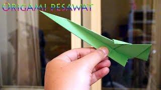 Cara membuat pesawat jet dari origami keren