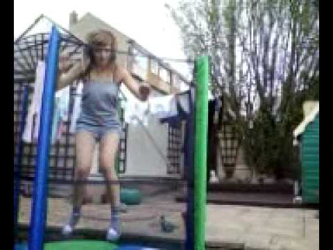 Emily & Maddison On The Trampoline :D