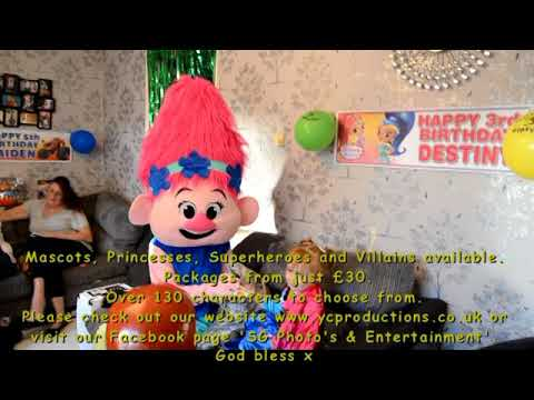 Sunshine Gardens character visits- Destiny and Jayden's Birthday Party