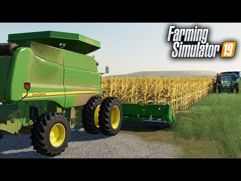 FS19- DIGGING INTO CORN! HARVESTING OUR LAST CORN FIELD FOR THE FALL