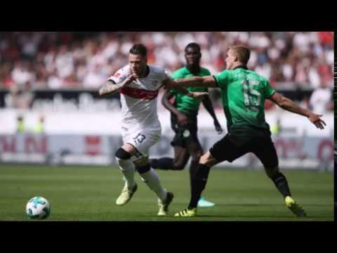 VfB Stuttgart (1) vs (1) Hannover 96 at Mercedes-Benz Arena on April 14' 2018 in Stuttgart' Germany.
