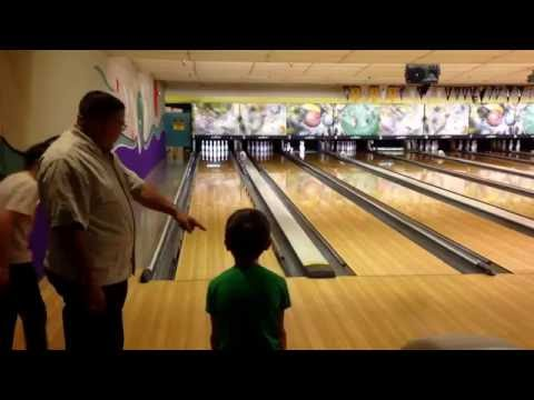 Bowling at the 32nd Street Naval Base in San Diego California