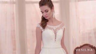 Прямое свадебное платье от VESILNA™ модель 3068