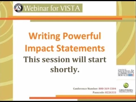 Writing Powerful Impact Statements