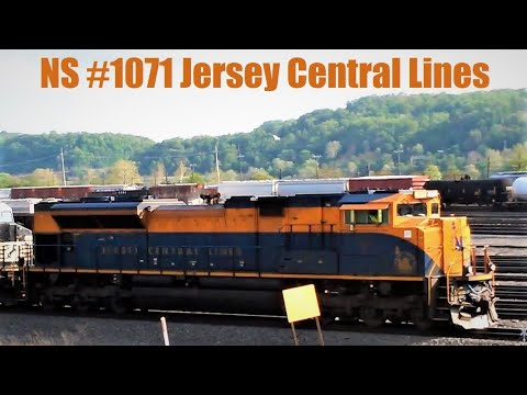 NS #1071 Jersey Central Lines Heritage Unit in the Lead