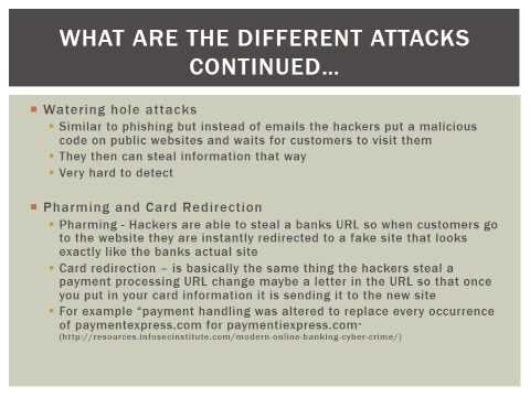 The effects of Cyber Terrorism On United States Banks