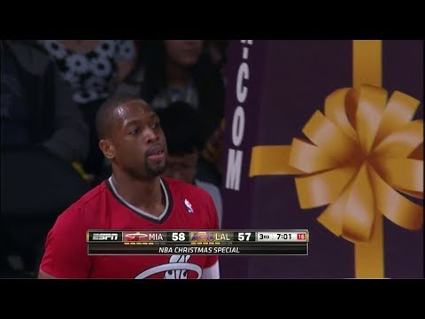 Dwyane Wade Full Highlights at Lakers (2013.12.25) - 23 Pts, 7 Assists