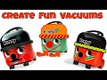 Funny Creative Numatic Vacuum Cleaners ~ Art Project for Kids ~ Make your own Funny Hoover Character
