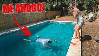 broma a mi novia que me ah0g0 en la piscina     broma muy pesada