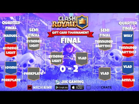 (REPLAY) Clash Royale GIFT CARD Bracket Tournament
