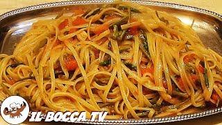 122 - Linguine agli asparagi selvatici..si ripigliano l'apatici! (piatto ricco a base di verdure)