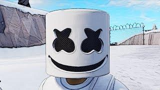 5 Masked Skins Face Reveal *Marshmello Skin*- Fortnite Battle Royale