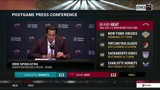 POSTGAME REACTION: Miami Heat vs. Charlotte Hornets 10/20/2018