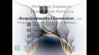 Order Japanese Translation Service