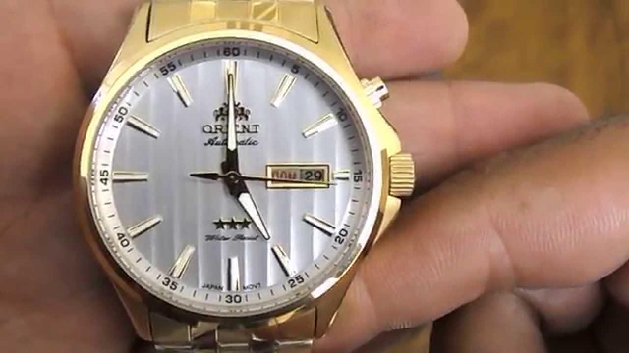 fd9cbfffffc Relógio Orient Automático 3 Estrelas 469GP043 - YouTube