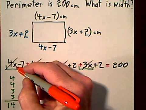 Hw 018 u2 32 find width given perimeter of rectangle youtube hw 018 u2 32 find width given perimeter of rectangle ccuart Choice Image