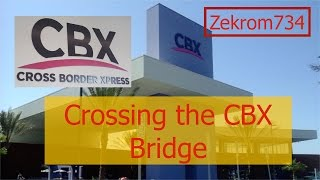 Crossing the CBX bridge on March 16, 2016 to the Tijuana airport