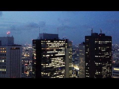 Twilight View from the Tokyo Metropolitan Government Building [iPhone 4S/HD]