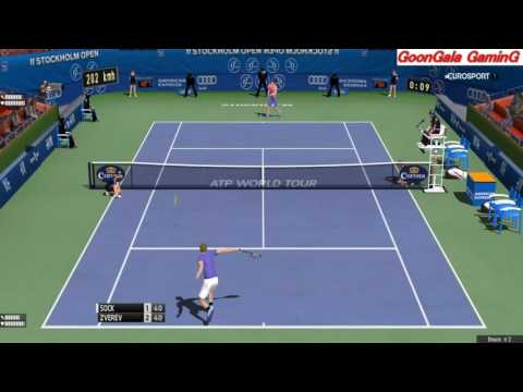 Jack Sock vs Alexander Zverev | if Stockholm Open 2016 | 60 fps HD Tennis Elbow PC GamePlay