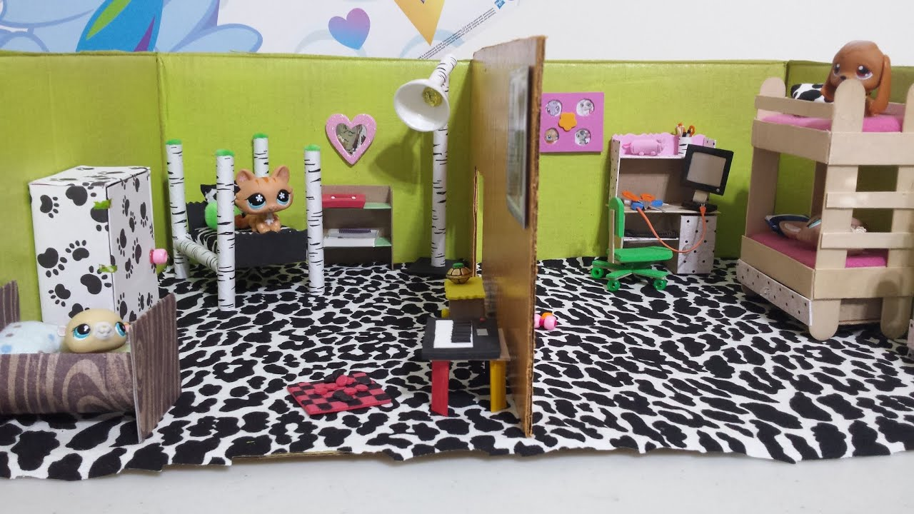how to make lps dollhouse bedrooms doll diy youtube