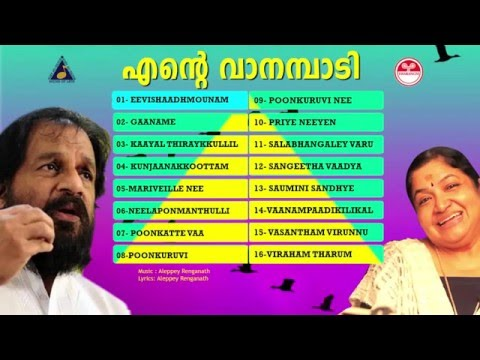 Ente Vanambadi (എൻറെ  വാനമ്പാടി ) | Selected hit songs of yesudas and chithra |hit malayalam songs