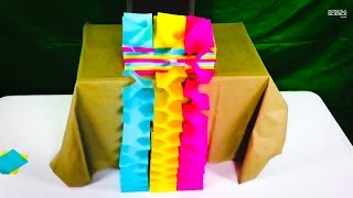 Paper Waterfall Sticky Notes and Slow Motion