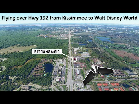 Flying over Hwy 192 from Kissimmee to Walt Disney World