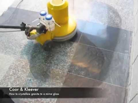 How To Polish Granite Floors Granite Crystallizing Kleever System