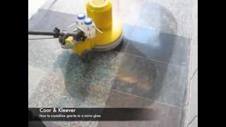 How to polish Granite floors - Granite Crystallizing Kleever System