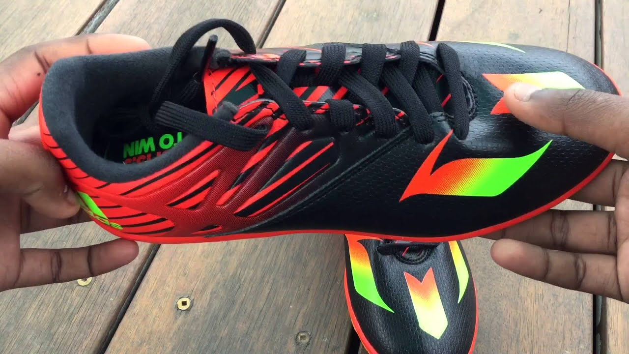 7b816c1a97d Adidas 15.3 indoor black 360 reveiw   Messi - YouTube