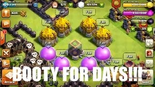 Clash of Clans - MAX STORAGES+Spending All Da Booty! | Booty Overload Ep.1 |