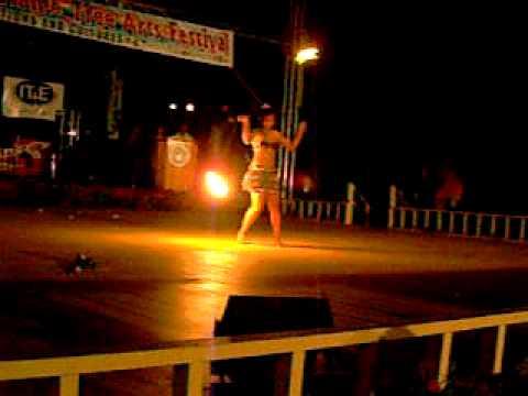 Fire Dance by an Island Girl - Saipan, Mariana Islands