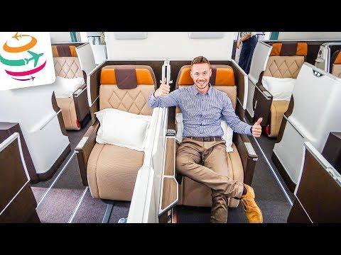 Oman Air NEUE Business Class im NAGELNEUEN Dreamliner 787-9 Review Flightreport | GlobalTraveler.TV