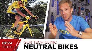 Do Pros Ever Use Neutral Service Bikes?   GCN Tech Clinic