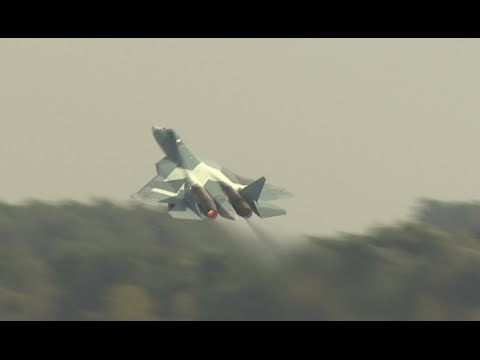 Russian 5G PAK-FA T-50 fighter debuts with stunt program at MAKS-2015
