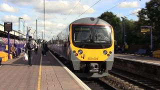 (HD) ***Heathrow Express Class 360 205 at Ealing Broadway***