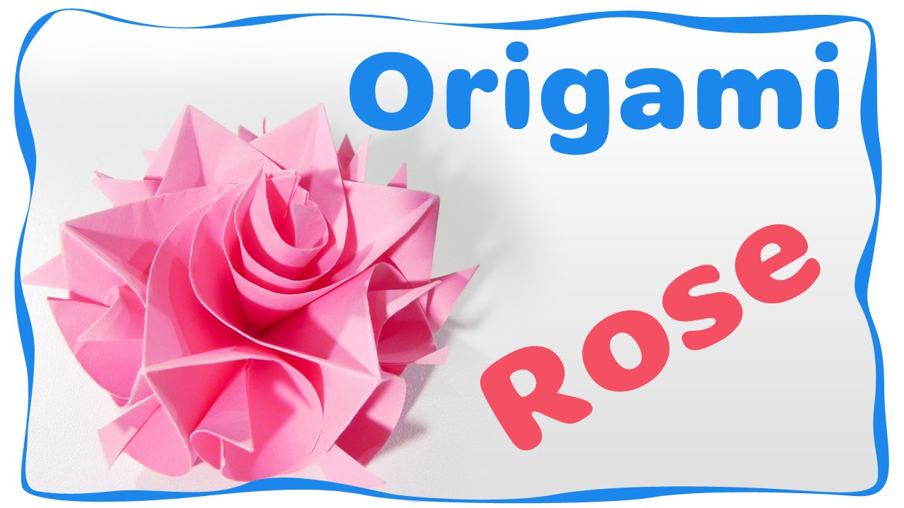 Origami Rose Easy Step By Tutorial