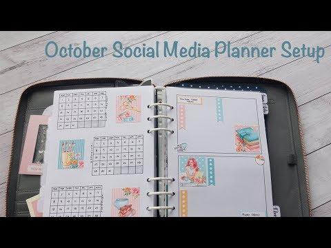 October Social Media Planner Setup