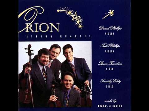 Orion String Quartet- Bartok String Quartet #1 ii. Allegretto