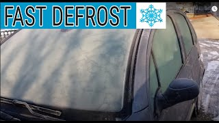 How to Defrost Cąr Windows in 1 minute (-10°C) | Ice Windshield