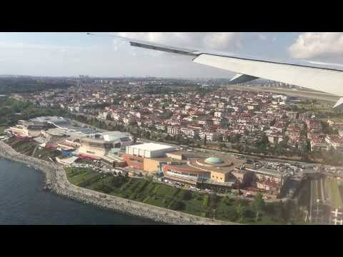 HOT AND FAST!!! THY Turkish Airlines Boeing 777 landing at Istanbul Ataturk