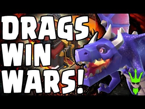 DRAGONS WIN WARS - TH10 3-Star Strategy! - Clash of Clans Queen Walk DragLoon