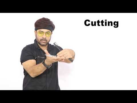 scissors holding & cutting  and degrees of hair cut   Tutorial in Hindi SAM and JAS