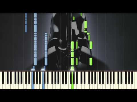 Star Wars The Imperial March (Darth Vader's Theme) Piano tutorial Synthesia