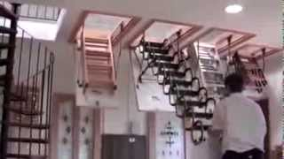Чердачная лестница OMAN Nozycowe(Чердачная лестница OMAN Nozycowe в действии., 2014-03-10T13:31:53.000Z)