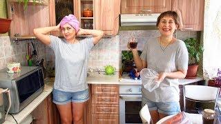 Кухонные дела. Холодильник и вода, приготовила обед, ну а маска на десерт.