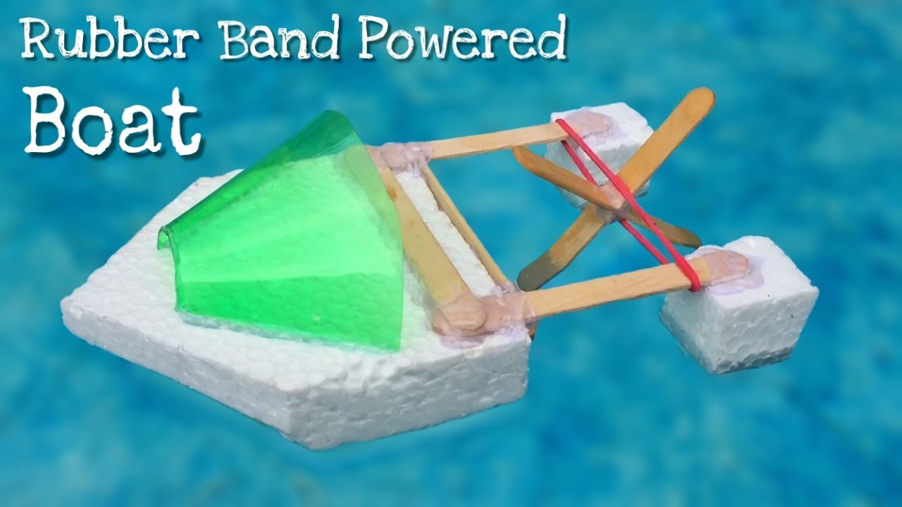 how to make a rubber band powered boat simple elastic band
