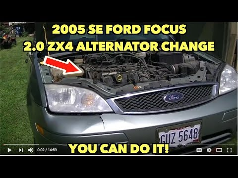 2005 SE Ford Focus 2.0 ZX4 Alternator change...Without all the pain....sort of...You can do it!!