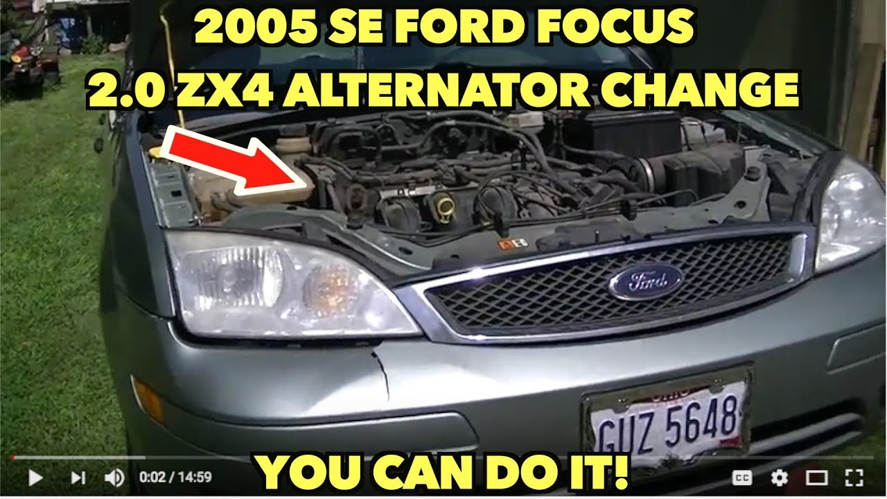 2005 se ford focus 2 0 zx4 alternator change without all the pain rh youtube com Alternator Replacement 2007 Ford Focus Alternator Location