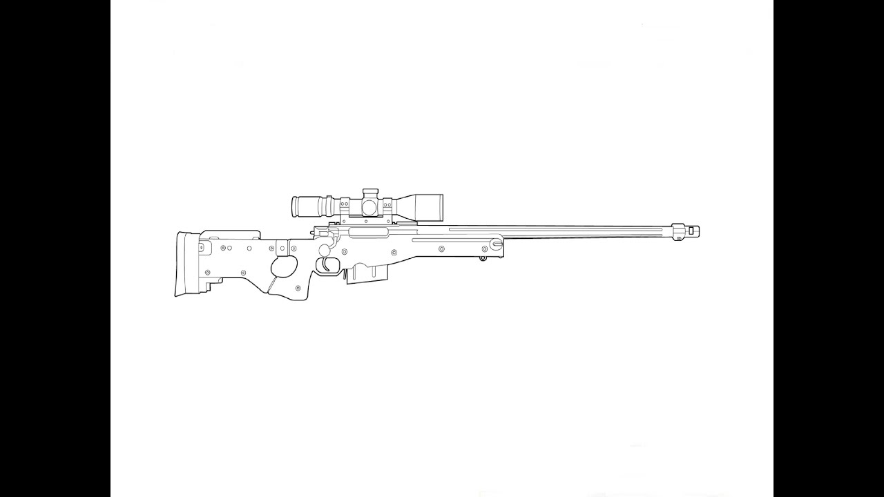 How to Draw a Sniper Rifle AWP